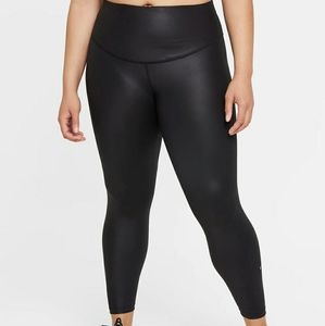 Nike 3XL Faux Leather 7/8 Mid-Rise Leggings